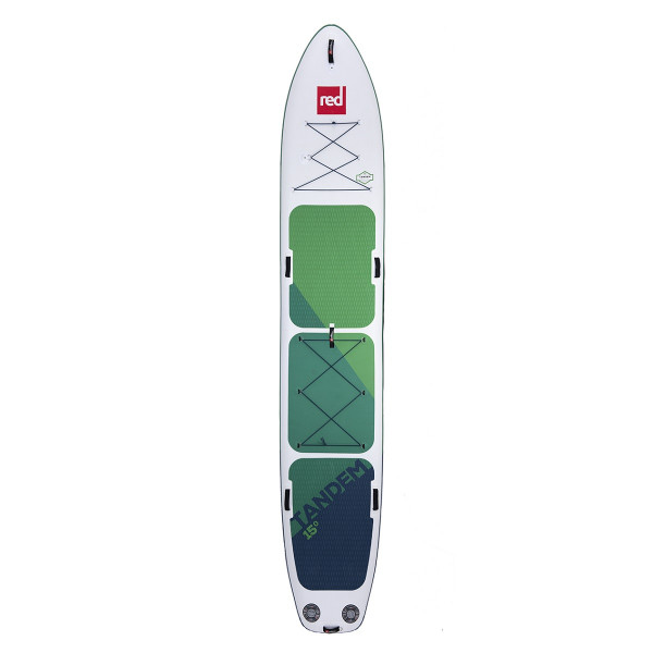 RED SUP Board TANDEM 15' x 34'' x 8'' MSL with 1x TITAN Pump, 1x Ezee Pump - SUP Board inflatable