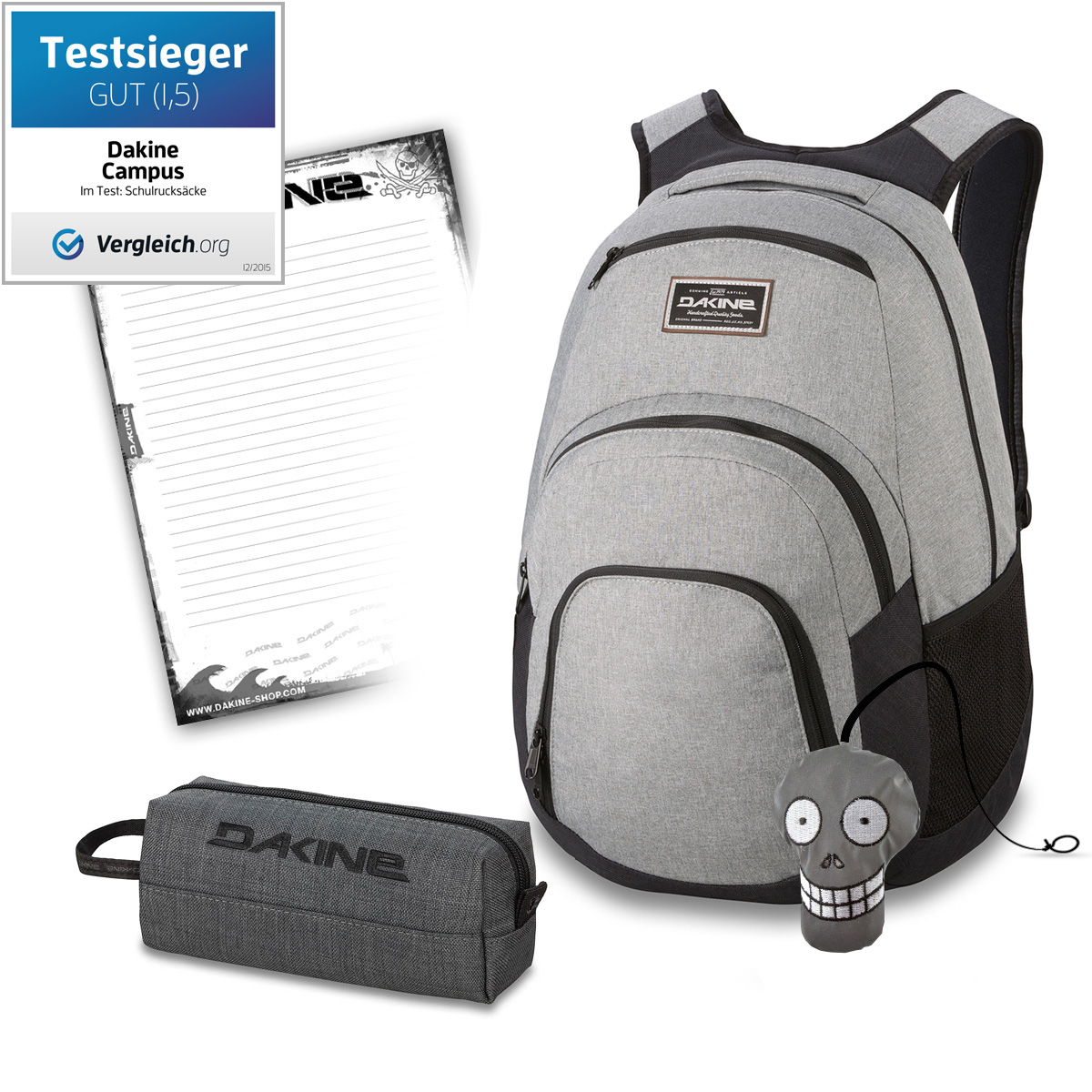 4915c7c1e1487 Sporttaschen   Rucksäcke DAKINE SET Laptop Rucksack Schulrucksack CAMPUS SM  25l ACCESSORY CASE Mäppchen