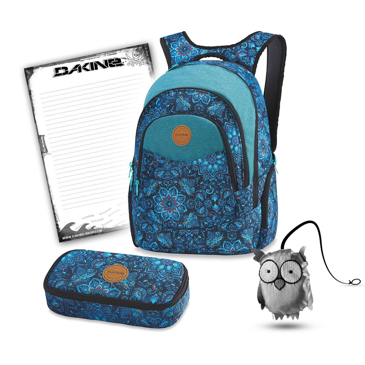 a1dfdfece153d Dakine Prom 25L + School Case XL + Emma + Notepad School Set Blue Magnolia