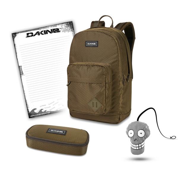 Dakine 365 Pack DLX 27L + School Case + Harry + Block School Set Dark Olive Dobby