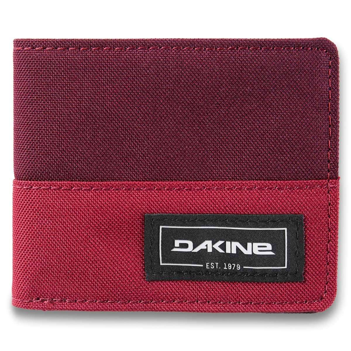 Payback Mini Karte.Dakine Payback Wallet Garnet Shadow