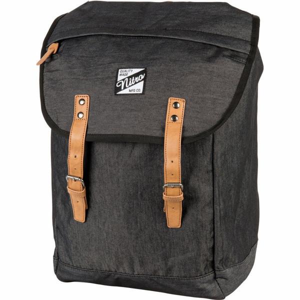 Nitro Venice 28L Laptop Backpack Black Denim