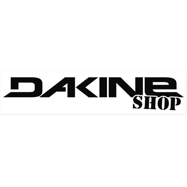 Dakine Shop Outdoor Sticker Black on clear Film (42 x 10 cm)