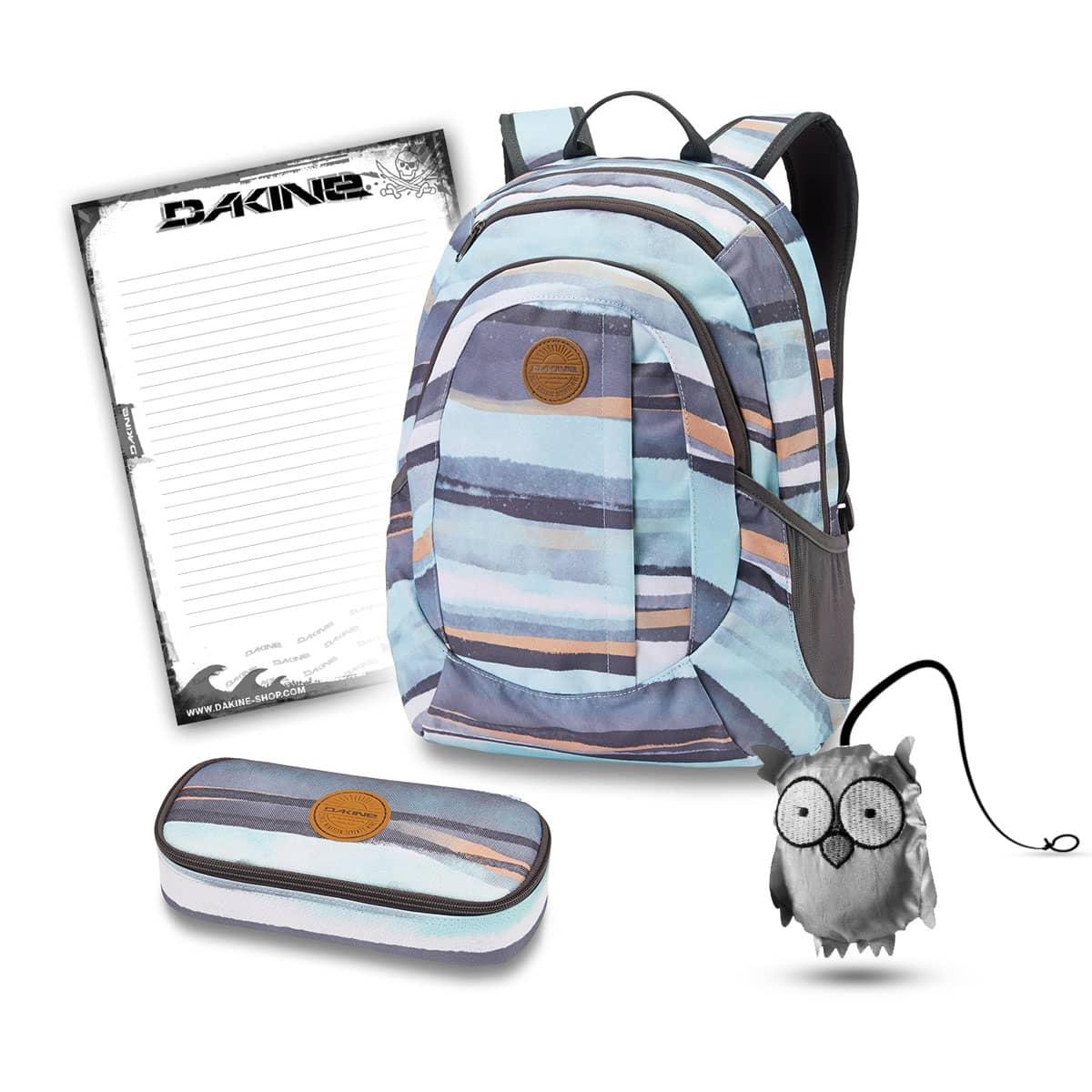 beste priser søt billig utsalgsbutikk Dakine Garden 20L + School Case + Emma + Block School Set Pastel Current