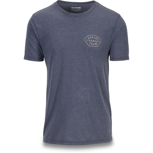 various colors 22d52 3d39a Dakine Shred Crew S/S Tech T T-Shirt Heather Navy