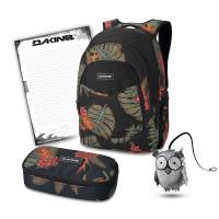 DAKINE SET Laptop Rucksack Schulrucksack GARDEN SCHOOL CASE XL Mäppchen Sport