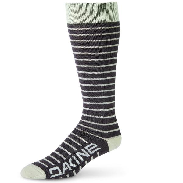 Dakine Womens Thinline Sock Ski- / Snowboard Socks Green Lily / Charcoal