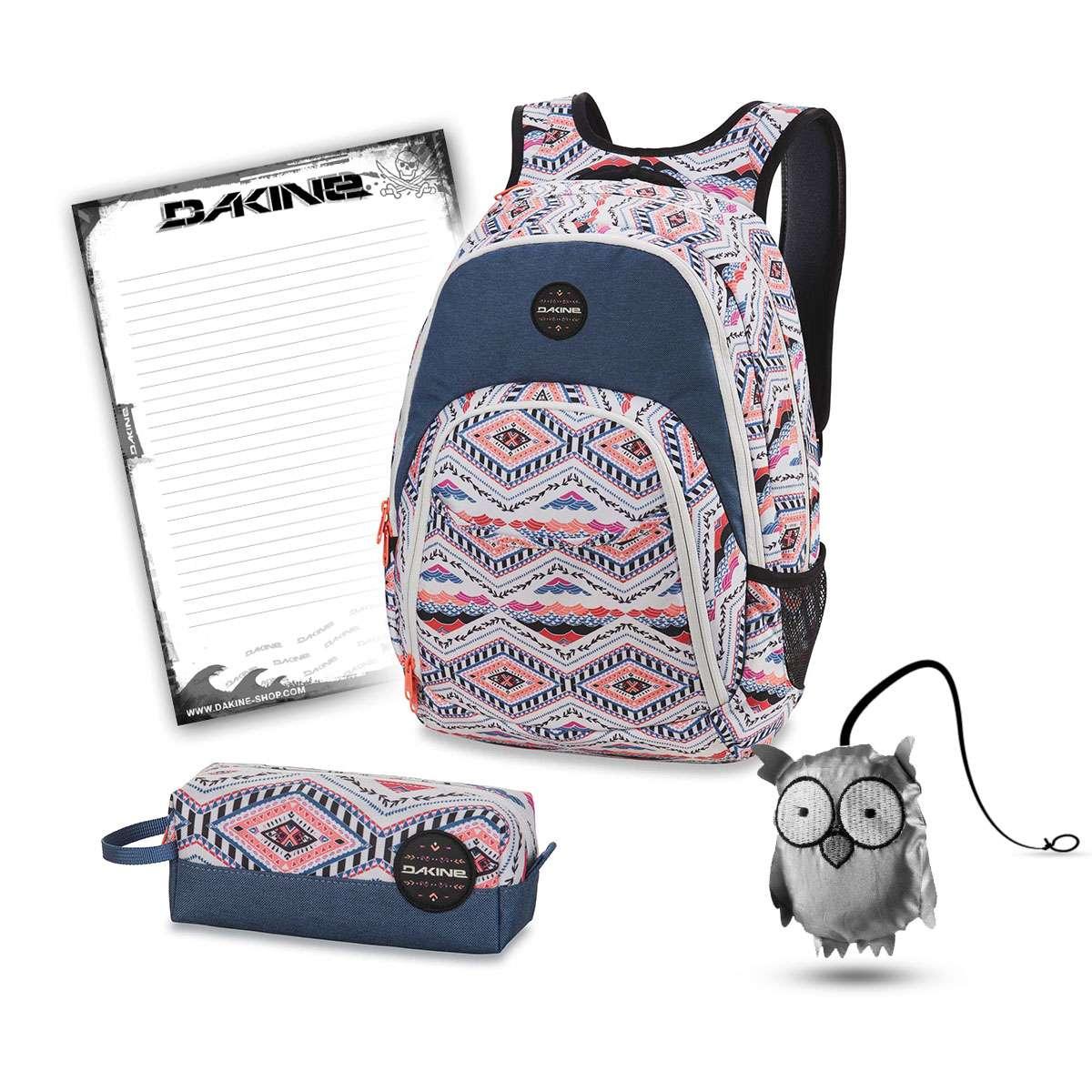 6a7a838ab6fe0 Dakine Eve 28L + Accessory Case + Emma + Notepad School Set Lizzy ...