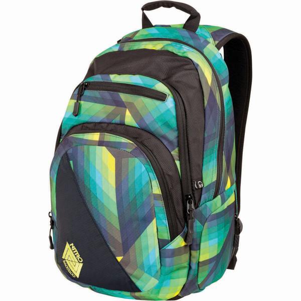 Nitro Stash 29L Laptop Backpack Geo Green