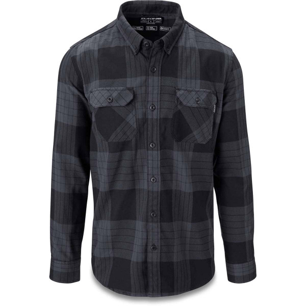 Dakine Reid Tech Flannel Herren Funktionshemd Black / Grey